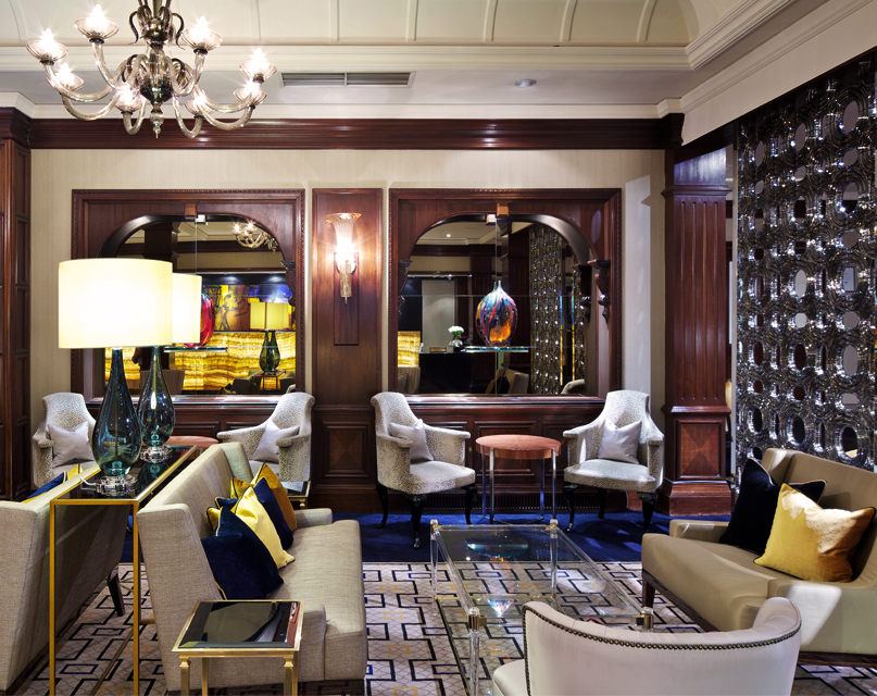 Reception area at St. James' Court, a Taj Hotel