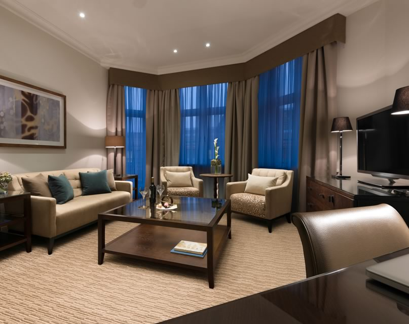 Junior Executive Suite Living Room at St. James' Court, A Taj Hotel